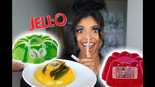 I Put My Fiancé Stuff In JELLO (prank!)