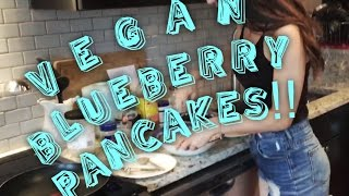 Ro's Vegan Blueberry-banana Pancakes! Best Pancakes Around!