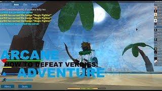 [Roblox] Arcane Adventures v3.4 | How to Defeat Verdies The Angry Pirate Captain! | Solo Boss Fight