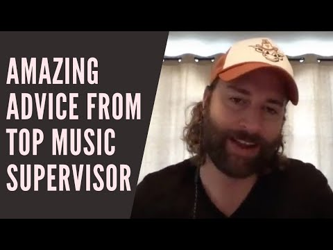 AMAZING advice from a top music supervisor