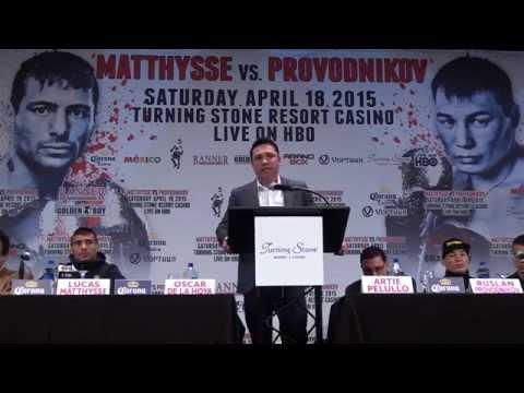 Matthysse Provodnikov at Turning Stone | April 16, 2015 Presser