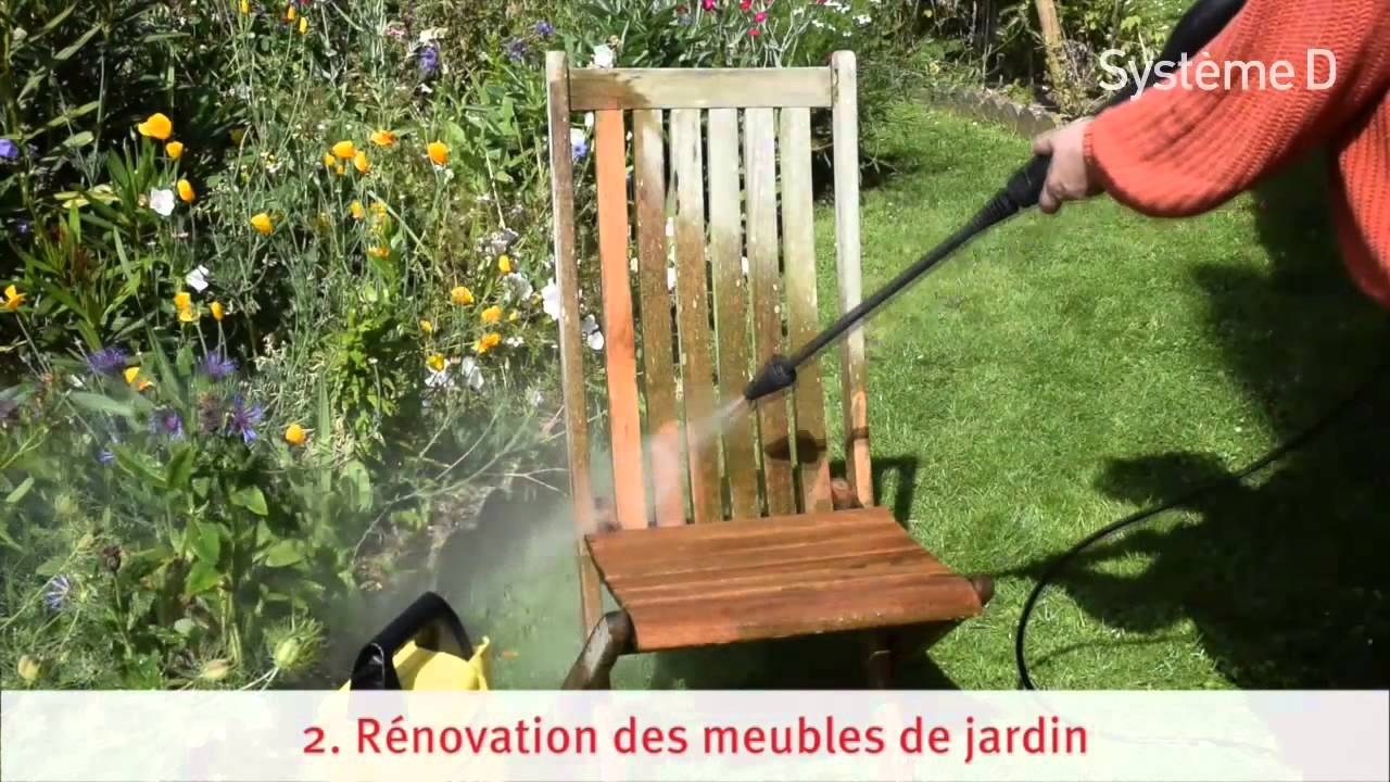 r parer et r nover les meubles de jardin en bois youtube. Black Bedroom Furniture Sets. Home Design Ideas
