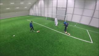 Goalkeeper training: reaction and block saves
