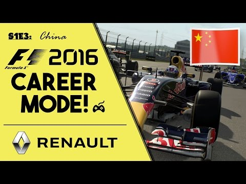 "F1 2016 CAREER MODE - PART 3: CHINA ""Shanghai Surprise"" (PS4 1080p)"