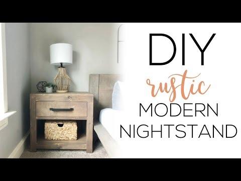DIY Modern Rustic Nightstand