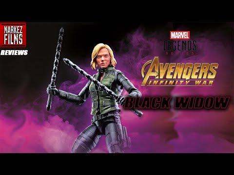 Marvel legends Avengers Infinity War Black Widow Cull Obsidian BAF REVIEW