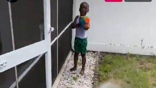 Jackboy has water fight with Kodak son