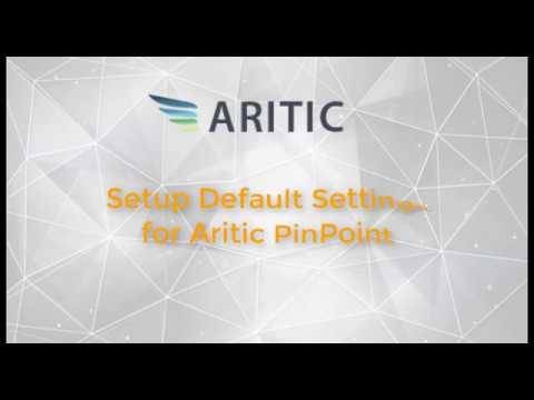 How to setup default settings for Aritic PinPoint?