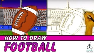 How to Draw a Football Kickoff Step by Step - Easy Art Lesson