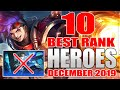 TOP 10 BEST HEROES FOR RANK IN MOBILE LEGENDS SEASON 14 (DEC 2019)