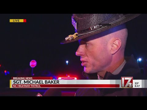 Sgt. Michael Baker with the NCSHP speaks with CBS 17 after trooper shot in Wilson County
