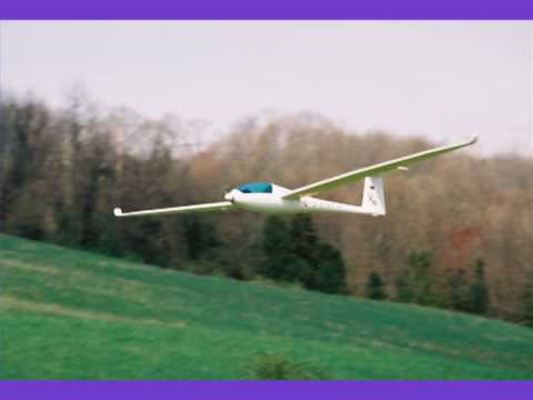 Flying the Giant Size 2.6 Meter Discus RC Sail Plane