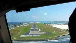 Repeat youtube video Landing from cockpit in  MALE airport (Maldives)