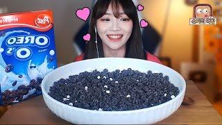 🍪오레오오즈 시리얼 2박스 먹방🍪!!! 슈기♬ Shugi Mukbang eating show