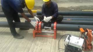 R B Gangal & Company HDPE pipe work