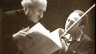 Heifetz plays Mendelssohn Violin Concerto - Second Movement