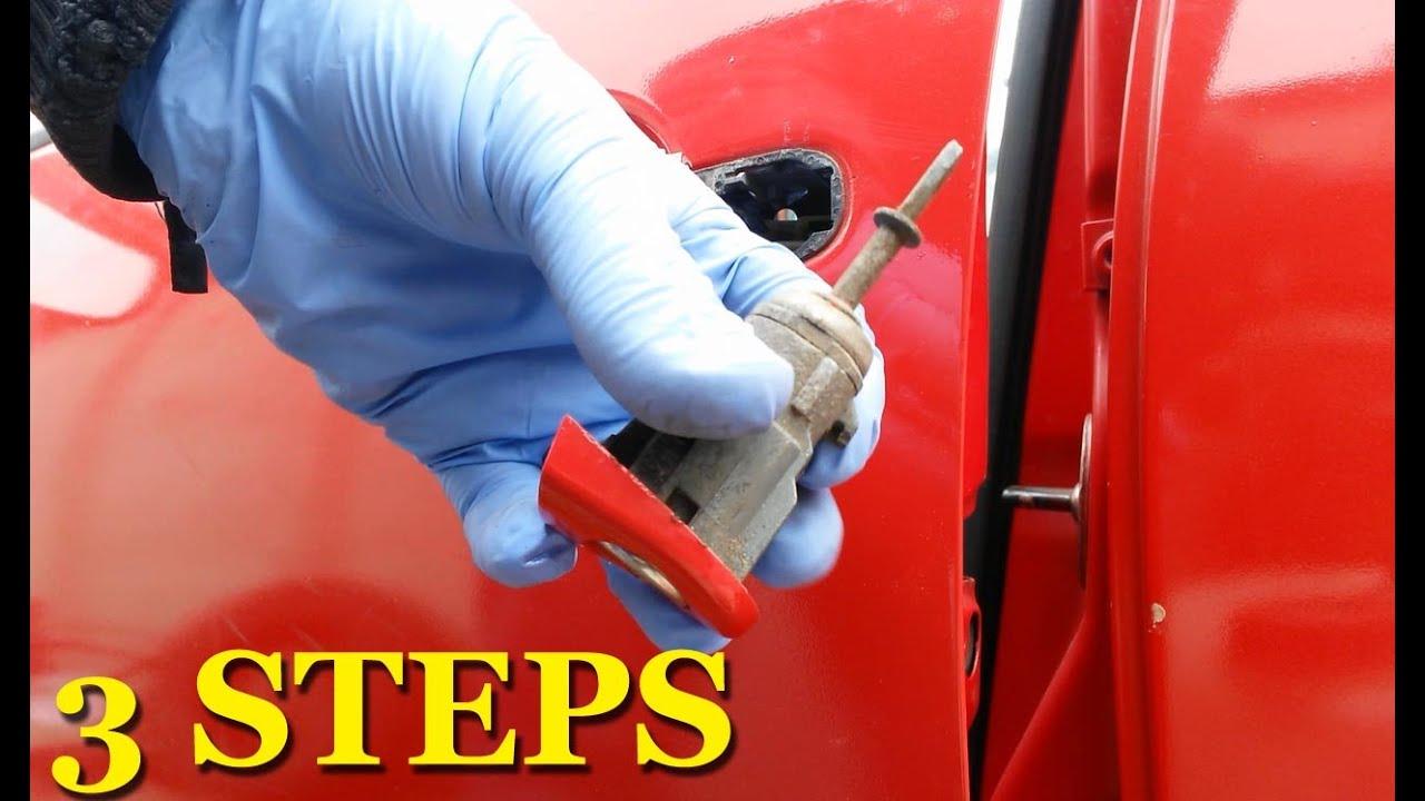 How To Remove Door Lock Cylinder Locking Tumbler Vw Golf