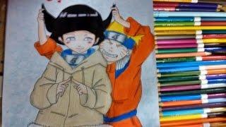 Drawing Naruto e Hinata (amor está no ar #2 ) Naruto