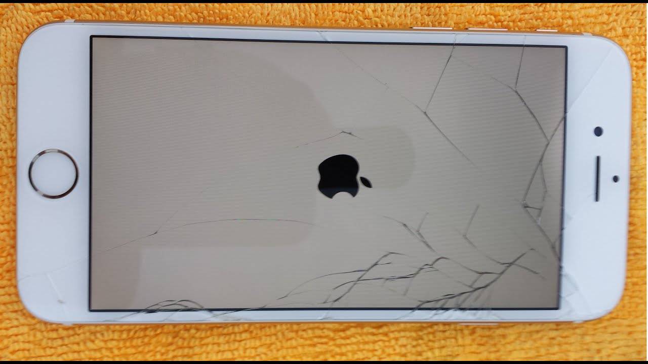 IPHONE 6 GOLD CRACKED GLASS DISPLAY HOW TO DIY FIX REPAIR