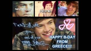 GREEK DIRECTIONERS WISH HARRY STYLES HAPPY BIRTHDAY !!!!!!!!!!!!!
