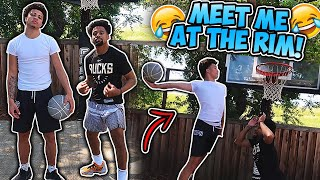 "CRAZY GAME OF ""MEET ME AT THE RIM"" VS MarcelasHoward 😱 *FUNNY*"