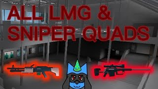 (Roblox) Phantom Forces: All LMG & Sniper Quads! [MONTAGE]