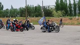 Мотопробег посвященный 9 мая в Энергодаре