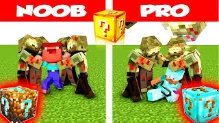 Minecraft NOOB vs PRO: LUCKY BLOCK ZOMBIE VILLAIN CHALLENGE in Minecraft / Animation