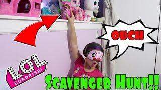LOL Surprise Series 4 Wave 2 Blindfolded Scavenger Hunt!