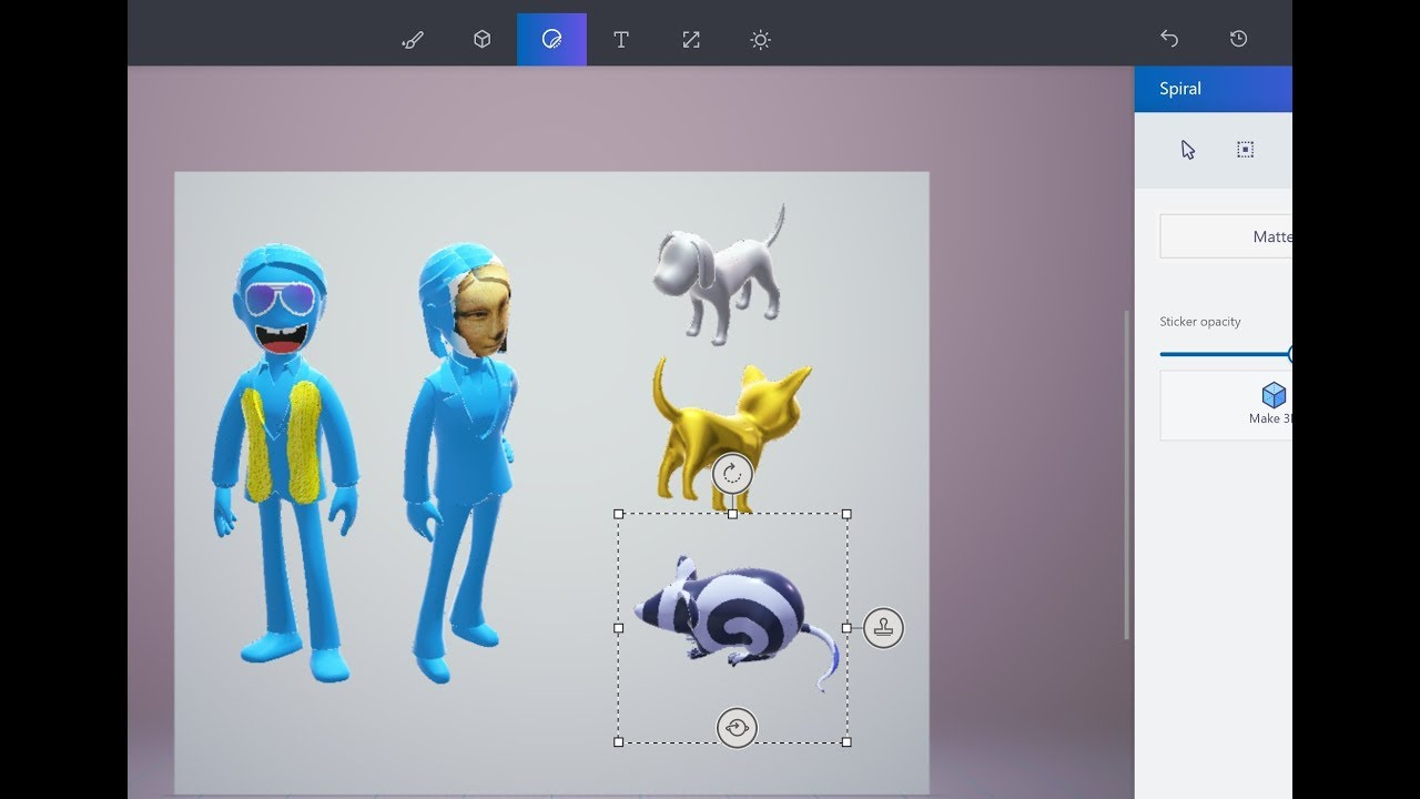Dibujo paint 3d windows 10 2017 youtube for How to paint 3d