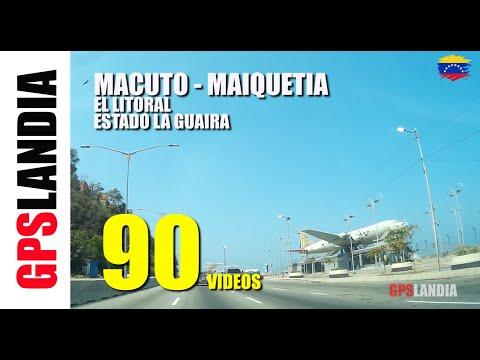 LA GUAIRA RECORRIDO MACUTO - MAIQUETIA Litoral Central LA GUZMANIA RESTAURANTES HOTELES VENEZUELA