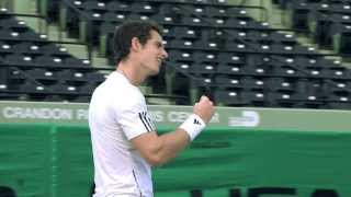 HEAD Making Of: Andy Murray surprises crowd and commentators
