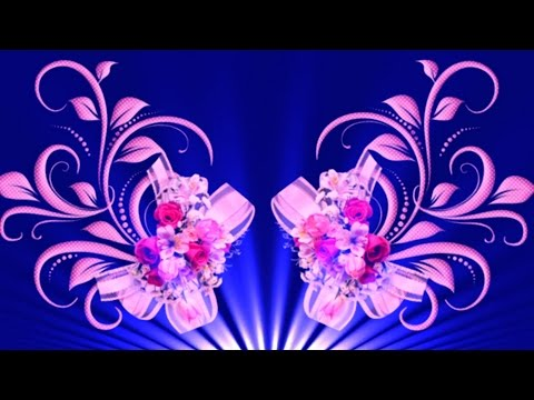 Blue Flowers Background Video Full HD   Blue Flower Effect Background Animation   DMX HD BG 115 thumbnail