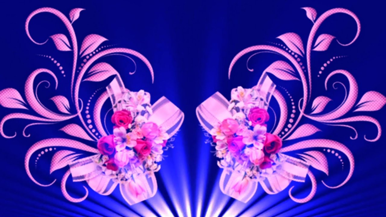 Blue Flowers Background Video Full Hd Blue Flower Effect