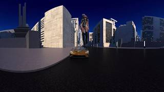 100ft Woman - Giganta - Attacks City in VR 3D 360