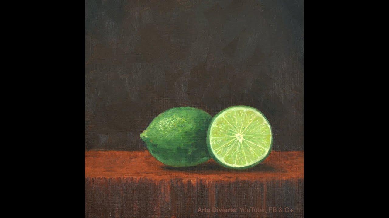 Cómo pintar limones - Fruta - Bodegón - YouTube