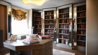 James Bond Style Bookcase, Avenfield House, Mayfair, London
