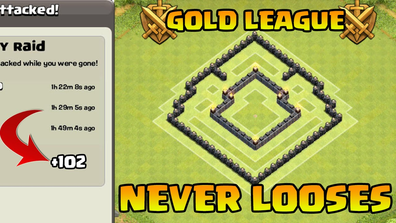 Coc th5 trophy war base best th5 defense strategy youtube