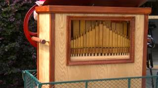 Street organ playing the Beatles Penny Lane
