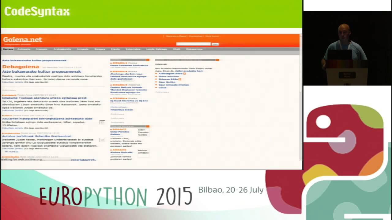 Image from Python gure etxean: (r)eboluzioa atzo, gaur eta bihar