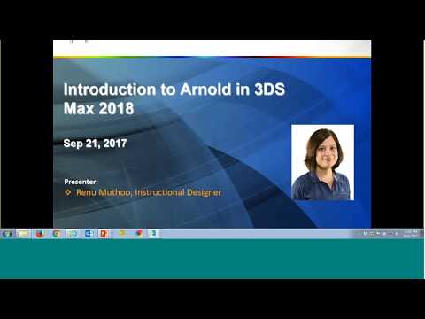 ASCENT Webcast: Introduction to Arnold in Autodesk 3ds Max