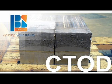 Crack Tip Opening Displacement (CTOD) test of S690 at the Belgian Welding Institute