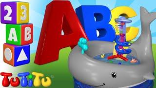 Impara l'inglese per i bambini   Alfabeto   ABC giocattoli per il bagnetto   TuTiTu prescolastico