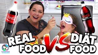 REAL FOOD vs. DIÄT FOOD! Schmeckt man den Unterschied? Geschichten und Spielzeug