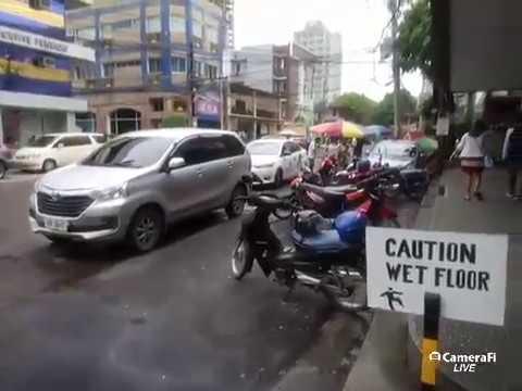 Philippines LIVE - Cebu City Rainy Day Walk Capitol Site Cebu