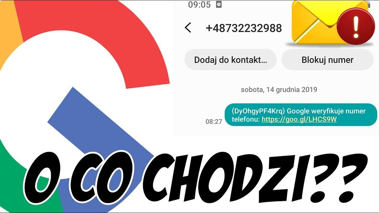 PODEJRZANY SMS - Google weryfikuje numer telefonu