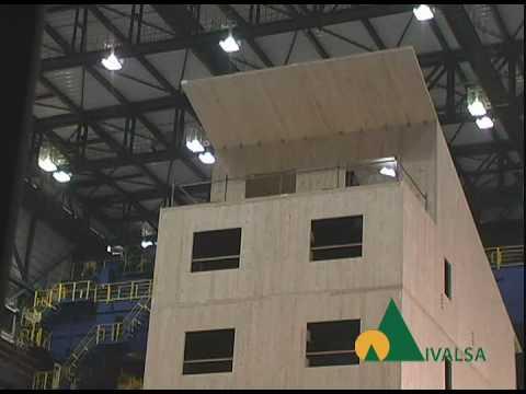 Simulazione sisma Kobe su edificio 7 piani in legno (c)Ivalsa