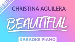 Christina Aguilera - Beautiful (Karaoke Piano)