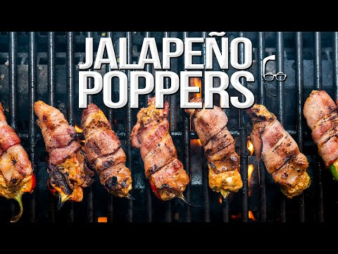 THE BEST BACON WRAPPED JALAPEÑO POPPERS | SAM THE COOKING GUY 4K