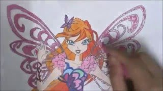 How to draw Bloom Butterflix (Winx Club)(Dear Viewers I want to say a big 'Thank You' to you all for watching my videos ^^ You might not know how big of an encouragement it is to me when I know there ..., 2016-02-02T16:18:15.000Z)